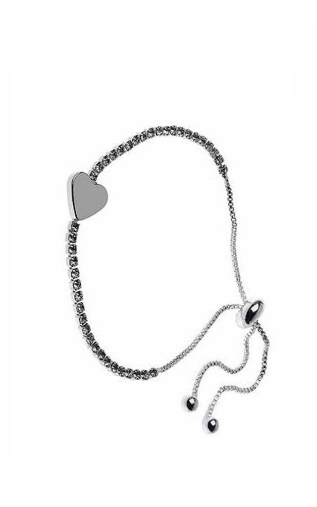 Silver Crystal Heart Bracelet by Nautical and Nice Ltd