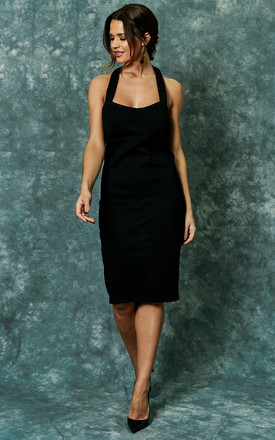 Black Halter Bodycon Dress by The Vanity Room Product photo
