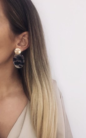 Two-Tone Stud And Dop Earrings - Gold by Pretty Lavish