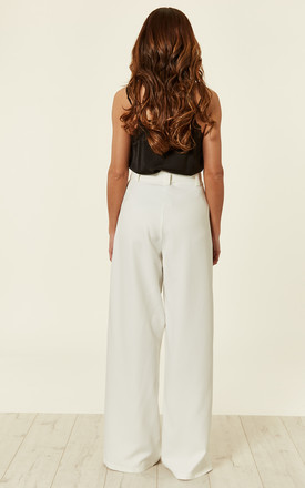 Ivory Tailored Wide Leg Trouser by MISSI LONDON
