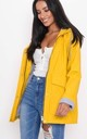 Waterproof Hooded Festival Rain Mac Coat Bright Yellow by LILY LULU FASHION