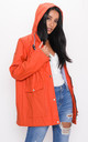Waterproof Hooded Festival Rain Mac Coat Orange by LILY LULU FASHION