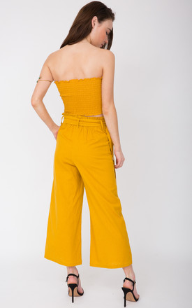 Wide Leg Culotte Summer Trousers Sunflower Yellow by likemary