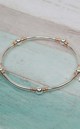 Sterling Silver & Rose Gold Noodle Bracelet by Kelly England Handmade Jewellery