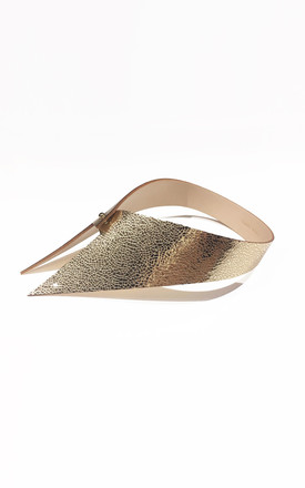 Gold Leather Collar by Isabel Wong