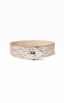 Pink Leather Cuff by Isabel Wong Product photo