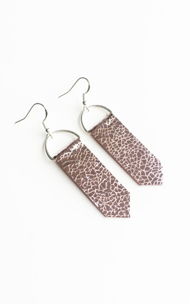 Pink Arrow Leather Earrings by Isabel Wong Product photo
