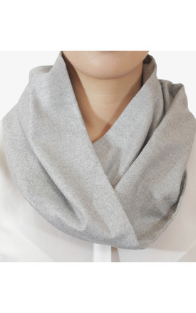 Infinity Snood Light Grey by Isabel Wong Product photo