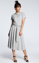 Grey midi dress with loose-fitting top by MOE