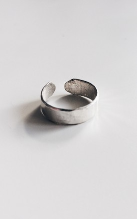 Sterling Silver Band Midi Ring Product by Soleil Store