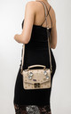 Amelia Beige Embellished Handbag by KoKo Couture
