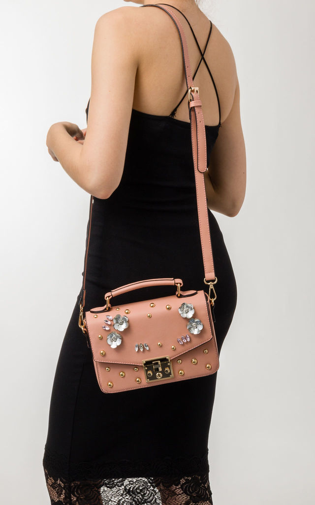 Amelia Pink Embellished Handbag by KoKo Couture