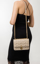 Aubrey Beige Quilted Shoulder Bag by KoKo Couture