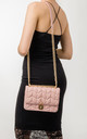 Aubrey Pink Quilted Shoulder Bag by KoKo Couture