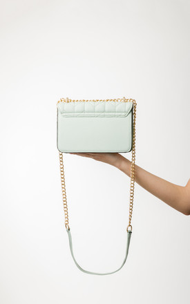 Aubrey Mint Quilted Shoulder Bag by KoKo Couture
