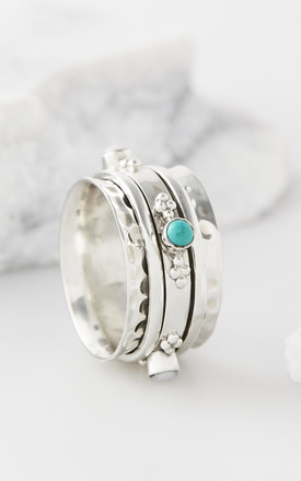 Rajput Serenity Silver Gemstone Spinning Ring by Charlotte's Web Product photo