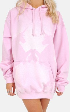 Baby pink unicorn print oversized hoodie/dress by The Left Bank