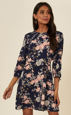 Navy Floral Skater Dress by ANGELEYE
