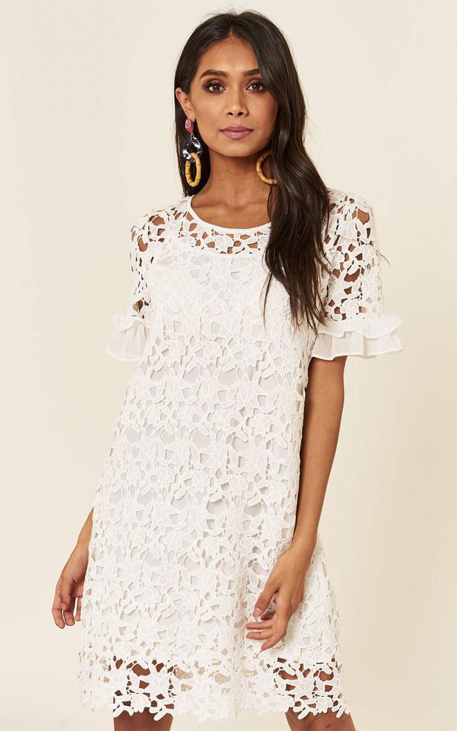 Summer White Lace Dress by ANGELEYE