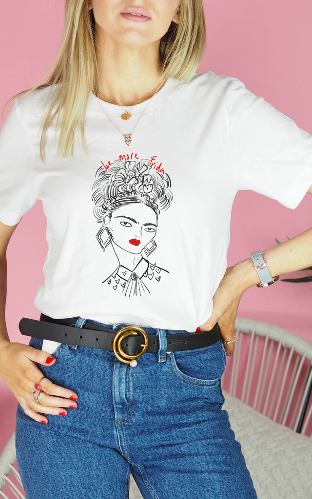 Be More Frida T Shirt in White by Rock On Ruby