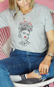 Be More Frida T Shirt in Grey by Rock On Ruby