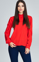 Red Blouse With Long Sleeves by FIGL