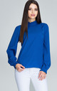 Blue Blouse With Long Sleeves by FIGL