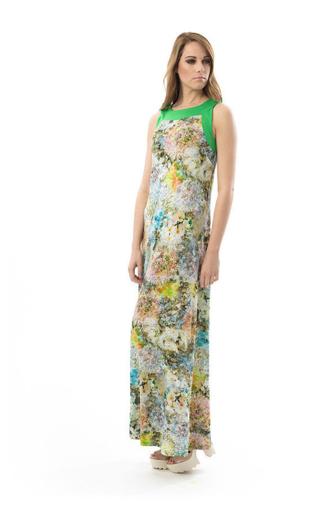 Floral A Line Maxi Dress by Conquista Fashion