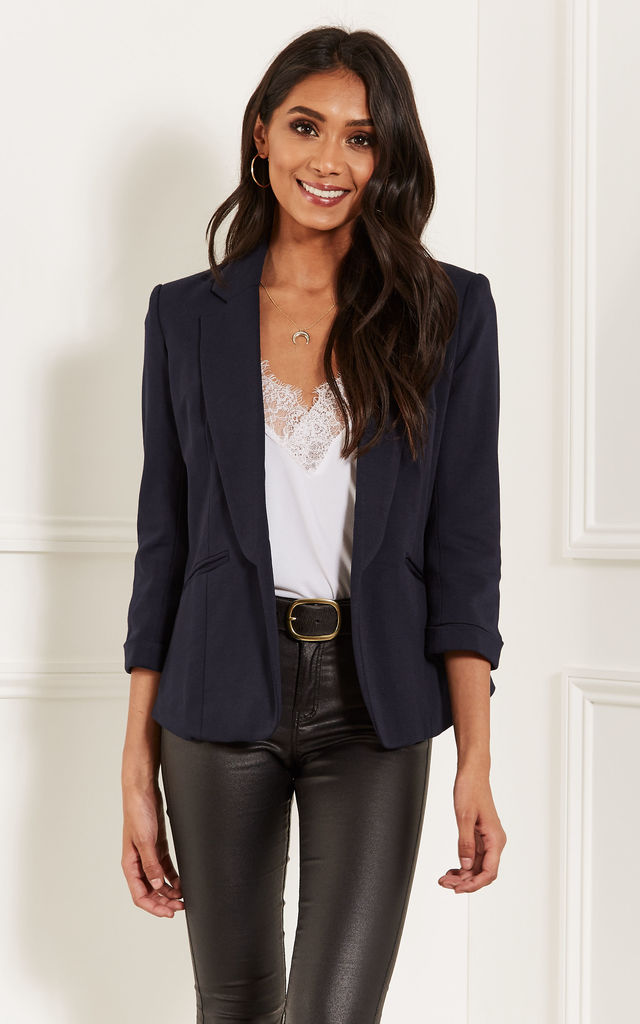 Navy Tailored Blazer by Lilah Rose