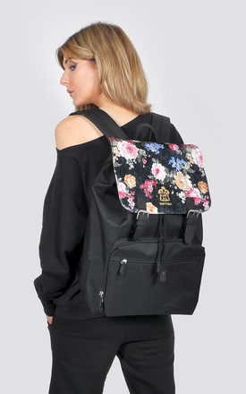 Floral print laptop backpack by The Left Bank