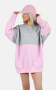 Half Grey pink oversized jumper/dress by The Left Bank