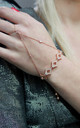 Rose Gold love Diamond Chain Hand Harness by Free Spirits