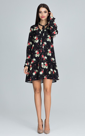 Trapeze Dress in Floral Print by FIGL
