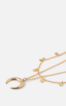Mini Coin & Horn Necklace by Orelia London