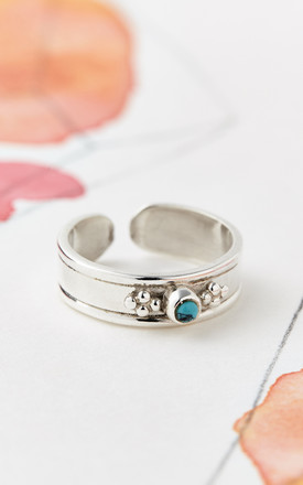 Rajput Midi/Toe Ring Silver and Turquoise by Charlotte's Web