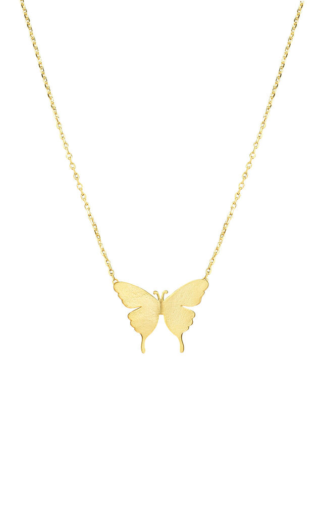 Delicate butterfly necklace in gold by DOSE of ROSE