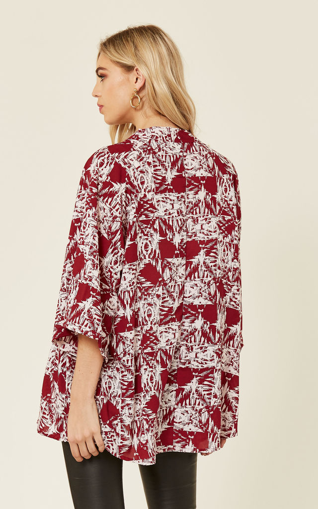 Emma Kimono / Red&White - SALE! by Jolly Olly