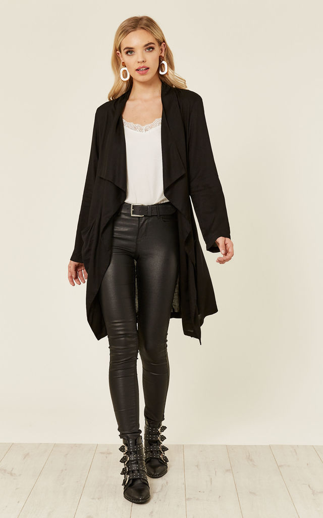 Lila Duster Coat / Black by Jolly Olly