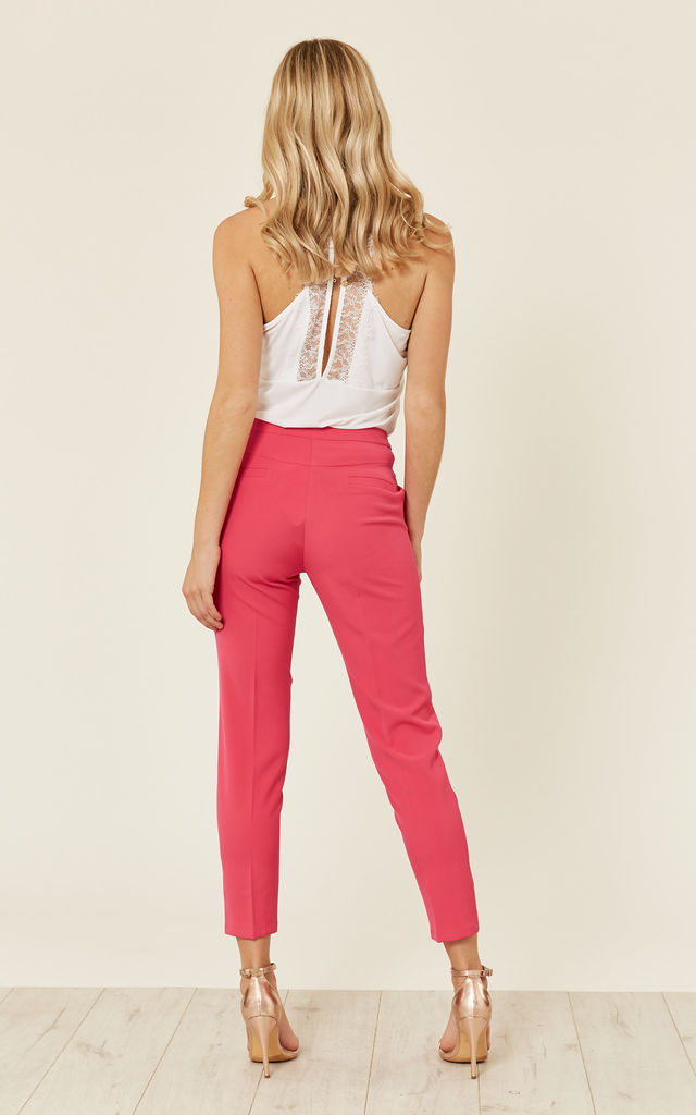 Pink Tailored Trouser by UNIQUE21