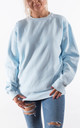 Sky Blue Crew Neck Sweatshirt by Rock On Ruby
