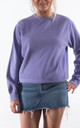 Pastel Lilac Crew Neck Sweatshirt by Rock On Ruby