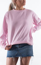 Bubblegum Pink Crew Neck Sweater by Rock On Ruby