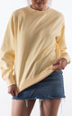 Pastel Lemon Crew Neck Sweater by Rock On Ruby