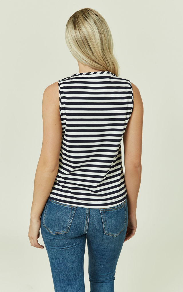 Navy Striped Sailor Top by CUBIC