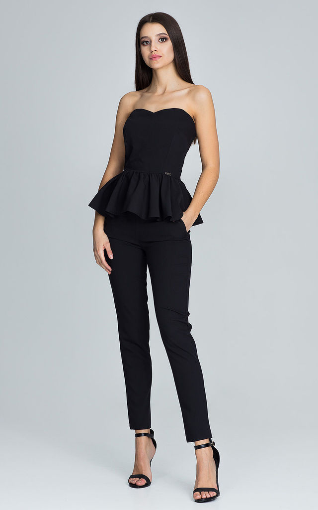 Black Trousers With a Corset Co-ords by FIGL