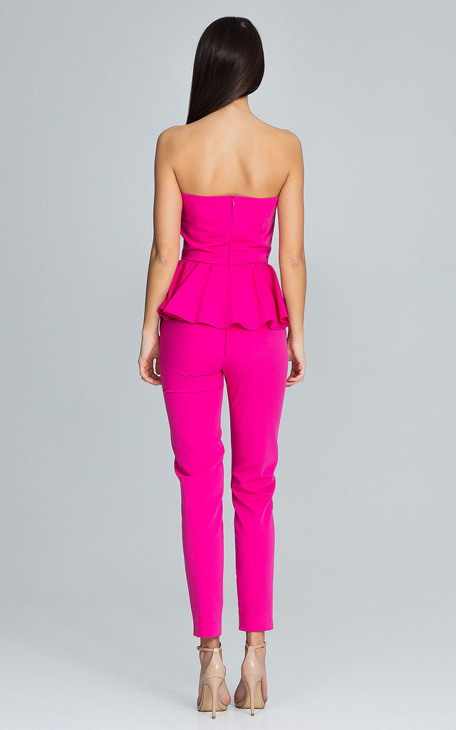 Fuchsia Trousers With a Corset Co-ords by FIGL
