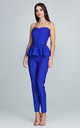 Cobalt Blue Print Trousers With a Corset Co-ords by FIGL
