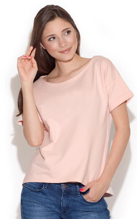 Pink Blouse With Short Sleeves by FIGL