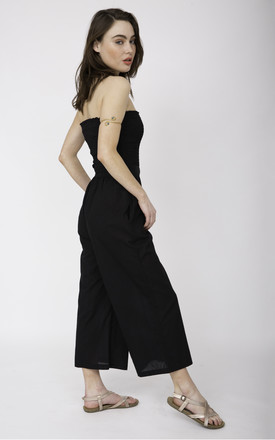 Culotte Cotton Jumpsuit & Wide Leg Trousers 2 in 1 Black by likemary