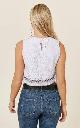 Baby Blue Modena Lace Crop Top by CUBIC